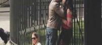 سوژه شدن دعوای این دختر و پسر در خیابان (عکس)