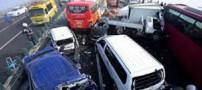 برخورد 65 خودرو در آزاد راه کرج – قزوین