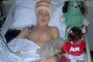 پسری 10 ساله با بیش از 40 عمل جراحی (عکس)