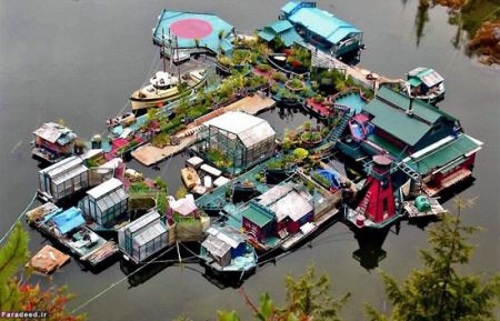 خانه ی رویایی زوجی که روی آب شناور است! (عکس)