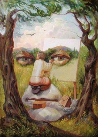 نقاشی های دیدنیو جالب با مضمون خطای دید