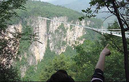 طولانی ترین پل شیشه ای و دیدنی جهان (عکس)