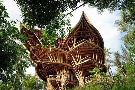 خانه های جالب و دیدنی بامبویی در اندونزی