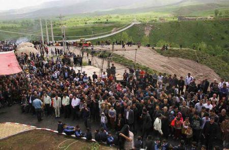 بزرگترین پل معلق خاورمیانه در اردبیل (تصاویر)