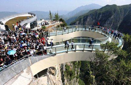 ترسناک تری پل پیاده روی جهان (عکس)