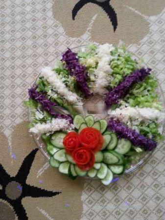 عکس هایی از تزئین سالاد کاهو