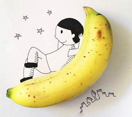 نقاشی های دیدنی، ترکیبی و طنز با اشیا