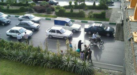خودکشی وحشتناک زنی از بالای پلی در مشهد (عکس)