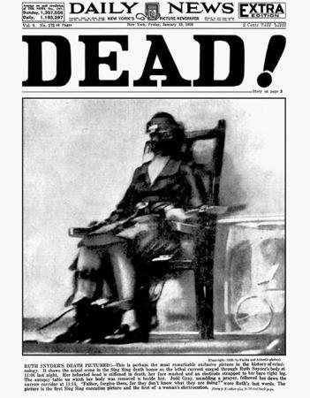 مشهورترین عکس از اعدام با برق ! (عکس)