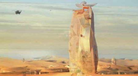 شهر عمودی در قلب صحرای آفریقا (عکس)