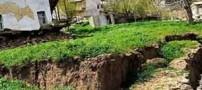 حفره های وحشتناک این روستا مردم را نگران کرده