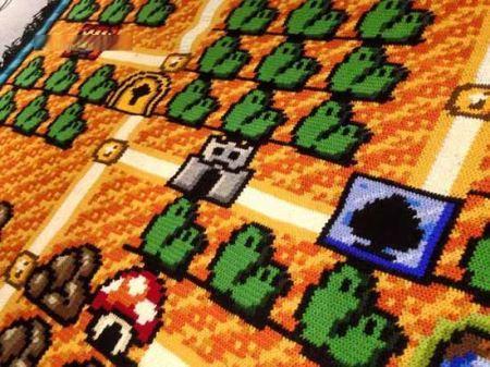 6 سال برای بافتن فرش بازی قارچ خور (عکس)