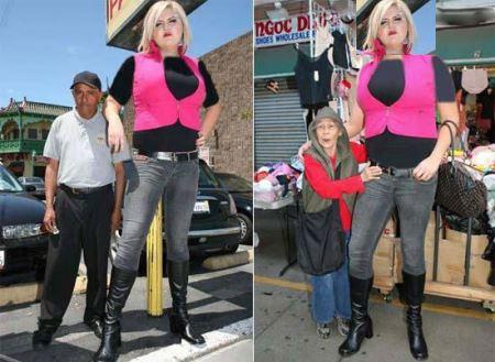 اندام و قد و بالای زیبای این دختر جهانی شد (عکس)