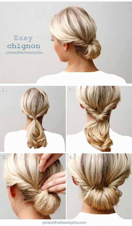 آموزش تصویری مدل بستن مو برای خانم های بی حوصله