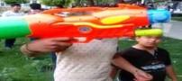 جشن آب بازی دخترها و پسرها در کرج (عکس)