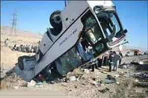 واژگونی فجیع اتوبوس گردشگران خارجی در جاده چالوس