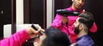 آرایشگاه مردانه به سبک ایرانی ! (عکس)