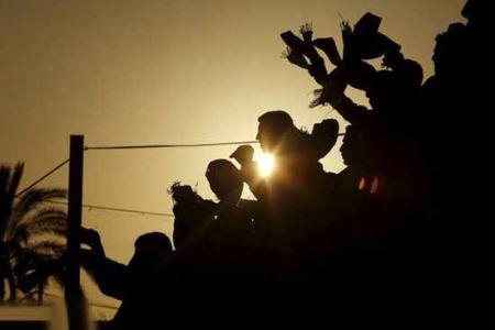 عکس های دیدنی جشن ازدواج 150 زوج غزه، بدون یک عروس!