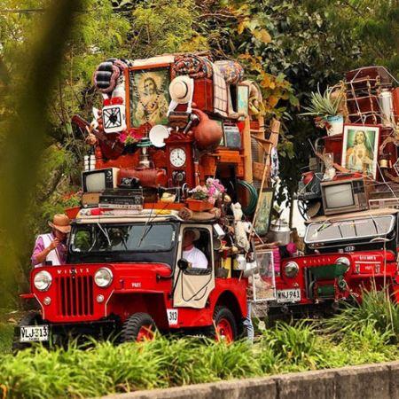 تقدیر عجیب مردم این منطقه از ماشین ها !(عکس)