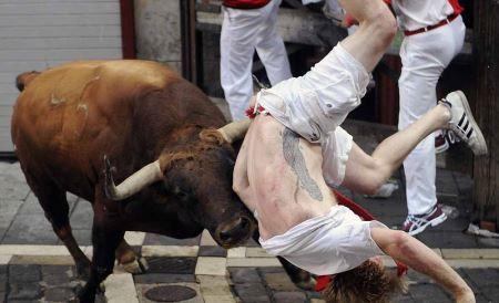 فستیوال وحشیانه گاو بازی در اسپانیا (عکس)