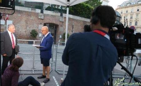 پوشش باورنکردنی یک خبرنگار در مذاکرات (عکس)