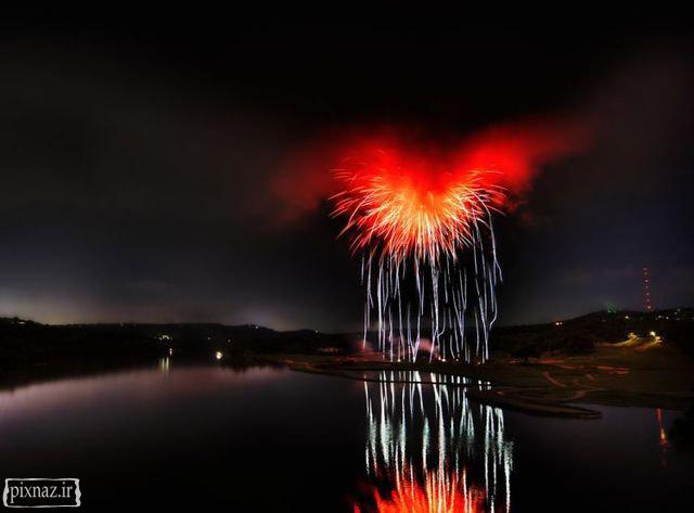 عکسهای دیدنی از آتش بازیهای با شکوه