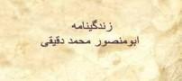 بیوگرافی ابومنصور محمد دقیقی