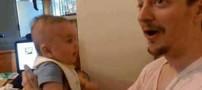 نوزاد سه ماهه ای که حرف می زند! (عکس)