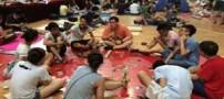 روش جالب این دانش آموزان برای فرار از گرما (عکس)