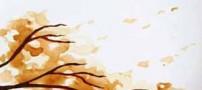 نقاشی های حرفه ای و دیدنی با قهوه روی برگ!