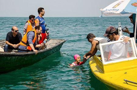 عکس های دختر ایرانی که دریای خزر را به هم ریخت