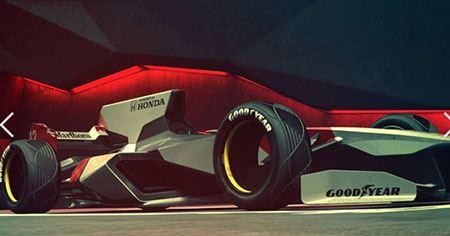 اتومبیل های دیدنی و طراحی شده فرمول یک 2056!