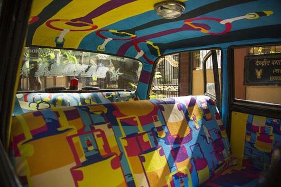 طراحی بسیار جالب درون تاکسی ها در کشور هند