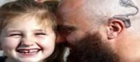 اثبات عشق زیبای این پدر به دختر ناشنوایش (عکس)