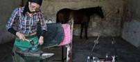اولین تک دختر ایرانی نعل بند (عکس)