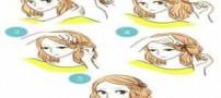 آموزش تصویری زیباترین شینیون های دخترانه
