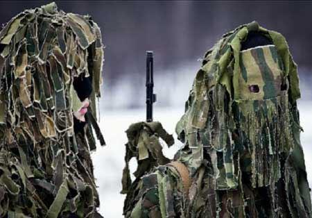 مدل لباس های عجیب و غریب استتار نظامیان