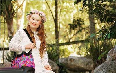 دختر عقب مانده ای که میخواهد دنیا را تکان دهد (عکس)