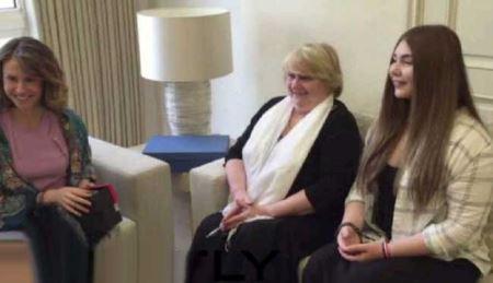 اقدام قوی ترین دختر جهان در دیدار با همسر بشار اسد (عکس)
