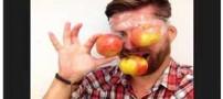 کمپین سیب خوردن دختران و پسران با انگیزه ای عجیب (عکس)