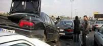 تصادف زنجیره ای عجیب در قزوین – تهران