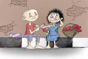 کاریکاتورهای غمناک کودکان کار