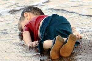 شعر زیبایی برای کودک غرق شده سوری