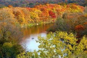 شهری که زیباترین پاییز دنیا را دارد (عکس)