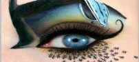 دختری با زیباترین مدل سایه های چشم