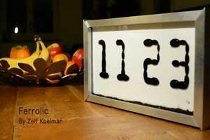 عجیب ترین ساعت دنیا با مایع مغناطیسی (عکس)