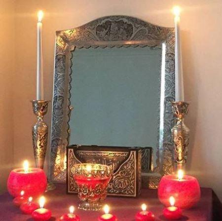آینه شمعدان آزاده نامداری در ازدواج دومش (عکس)