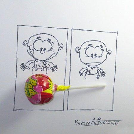 کاریکاتورهای زیبا و طنز اثر مجید خسروانجم