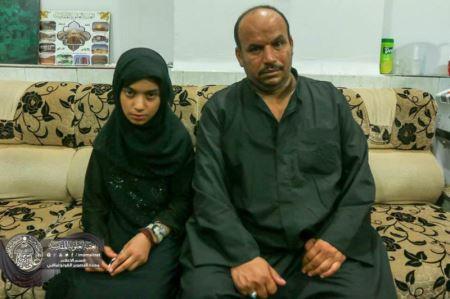 دختری که در حرم امام علی روز عاشورا شفا گرفت ! (عکس)