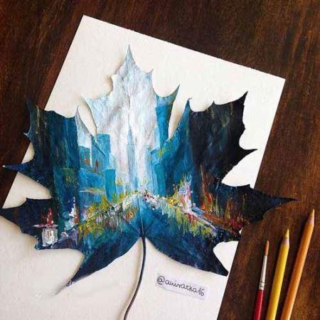 نقاشی های دیدنی بر طبیعی ترین بوم جهان !